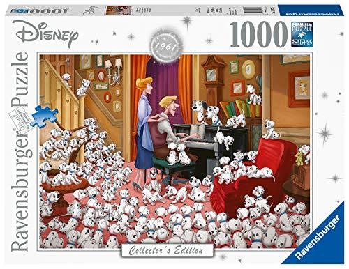 Ravensburger Puzzle, Puzzle 1000 Piezas, 101 Dálmatas, Disney Collector's Edition, Puzzle Disney, Puzzle Adultos, Rompecabezas de Calidad