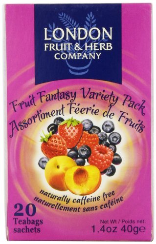 London Fruit & Herb Company Tea, Fruit Fantasy Variety Pack, 20 Count