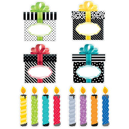 Creative Teaching Press Bold & Bright Birthday Party Cut Outs 6' (0636)