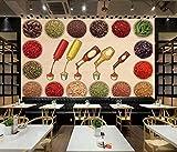GBHL papel tapiz mural especias nostálgicas condimento salsas cocina restaurante fondo, 430x300 cm (169.3 por 118.1 in)