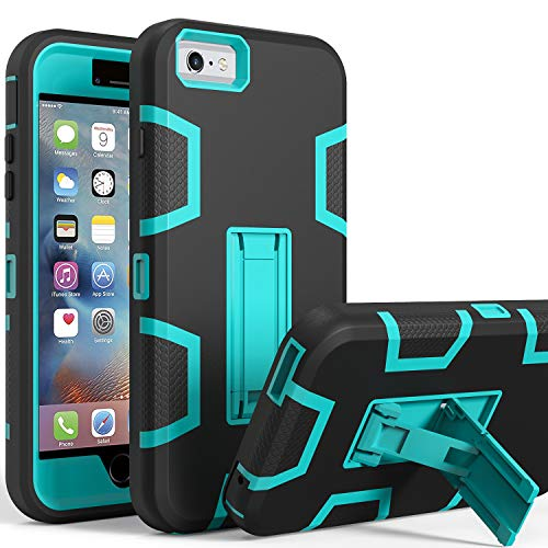 iPhone 6s Case, iPhone 6 Case, Kickstand Case for iPhone 6s, Anti-Scratch Anti-Fingerprint Heavy Duty Protection Shockproof Rugged Cover for 4.7inch iPhone 6s, Blue