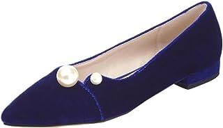 AIYOUMEIポインテッド フラット シューズ レディース パンプス 歩きやすいスウェード 靴 カジュアル レディース 大きいサイズ快適美脚シンプル