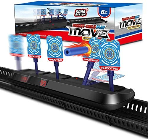 X TOYZ Digital Targets for Nerf Guns - Electronic Running Target Auto Rest for Shooting Practice, Ideal Gift for Kids, Boys & Girls