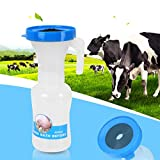 Emoshayoga Limpieza de pezones de Vaca 400ml 100% Brond Nuevo para Lavar y desinfectar el pezón de Leche de Vaca.(Pre-Drug Bath Cup (Blue))