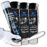 AAB Cooling Kältespray Reiniger 3 x 750ml, Druckluftspray, Icespray für Schnelles Einfrieren, Einfaches Abkühlen von Mechanischen und Elektronik Teilen, Eisspray, Kühlspray, Kühler,...