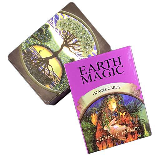 LPWCAWL Tarot Karten, Earth Magic Oracle Cards, Englische Wahrsagen Spielkarte, Brettspiele für Erwachsene und Kinder, 48 Karte