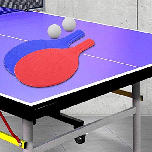Paleta de Ping Pong, Raqueta de Tenis de Mesa de Entrenamiento para niños al Aire Libre Juego de Bate de Tenis de Mesa portátil con 2 Pelotas