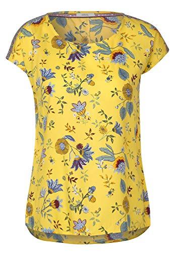 Cecil Damen 342148 TOS Dropped Shoulder Blouse Bluse, Radiant Yellow, Medium