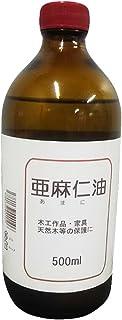 中部サンデー販売(Chubu Sunday Hanbai) 乾性油 亜麻仁油 500ML クリア 本体: 奥行7.5cm 本体: 高さ18.600000000000001cm 本体: 幅7.5cm