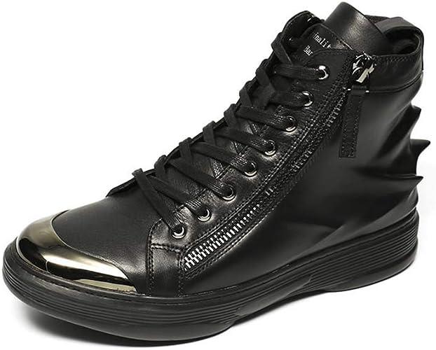 Hommes Chaussures d'impression 3D en Cuir Baskets à tête Ronde et Chaussures de Sport à Talon Plat en Caoutchouc, Printemps et en été