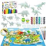 Erlliyeu 47 piezas 3D Niños dinosaurio Painting Kit,Arte Set para Niños Dinosaurios Set...