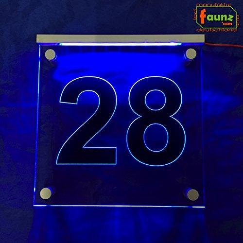 'LED extérieur Éclairage Panneau numéro de maison voie orientation Adresse \
