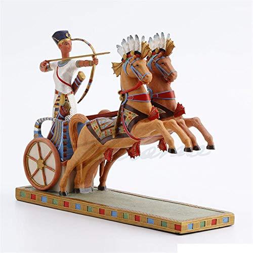Skulptur Dekoration Statue Antiguo Egipto Ramsés Ii. Carro De Tiro Con Arco Arte Escultura Figurita Creativa Resina Artesanías Decoraciones Para El Regalo De Cumpleaños Del Hogar R3677, Multicolor