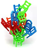Little Treasures Chairs Stacking Tower Balancing Game, Pile-Up Suspend Family Board Games for Kids (18 Chair Toys Set)