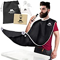 Best Beard Bib for Shaving - The Smart Way to Shave - Beard Trimming Apron 122x81cm - Perfect Grooming Gift or Mens...