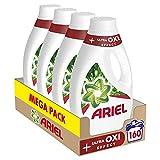 Ariel Detergente Lavadora Líquido, (Pack 4 x 40), Efecto Oxi Quitamanchas, 160 Lavados, 8800 Mililitros