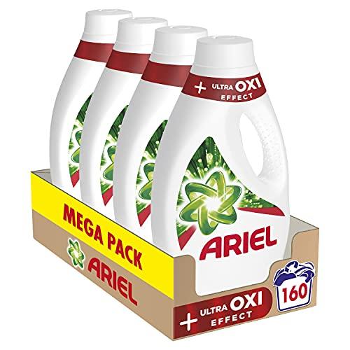 Ariel Detergente Lavadora Líquido, 160 Lavados (4 x 40), Ultra Oxi Effect