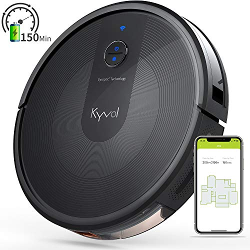 Kyvol Cybovac E30 Robot Vacuum Cleaner 2200Pa Strong Suction, Smart Navigation, 150 mins Runtime, Robotic Vacuum Cleaner, Wi-Fi Connected, Works with Alexa, Ideal for Pet Hair, Carpets & Hard Floors