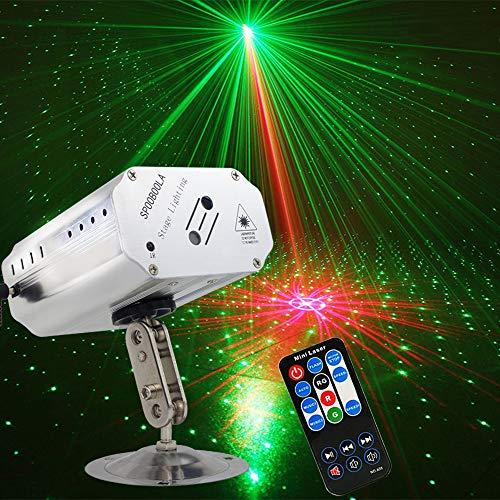 Party Lichter, DJ Disco Lichter Bühnenbeleuchtung SPOOBOOLA LED-Projektor Karaoke Strobe Perform für Bühnenbeleuchtung mit Fernbedienung für Dancing Thanksgiving KTV Birthday