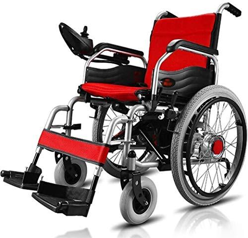 Sedia a Rotelle Pieghevole, Sedia a rotelle elettrica for adulti, sedie a rotelle elettriche attrezzature mediche for sedia a rotelle, multi-funzione leggera piegatura manuale sedia a rotelle elettric