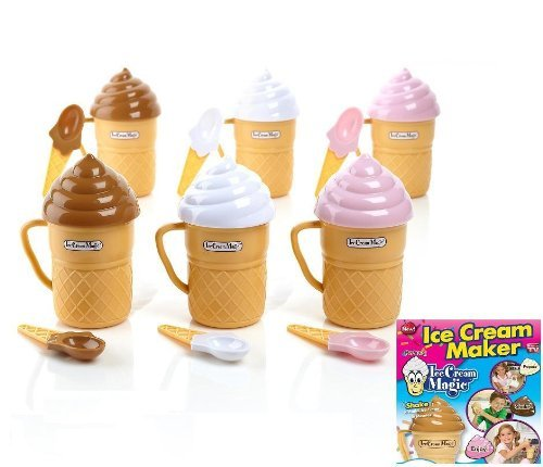 Ice Cream Magic Personal Ice Cream Maker 6 Pack  Each Color Included