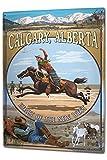 Blechschild XXL Abenteurer Calgary Cowboy