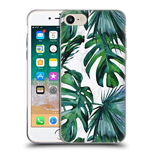 Head Case Designs Ufficiale Nature Magick Verde Tropici Piante Foglie Tropicali su Marmoreo Cover in Morbido Gel Compatibile con Apple iPhone 7 / iPhone 8 / iPhone SE 2020