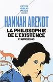 La philosophie de l'existence et autres essais - Payot - 22/10/2015