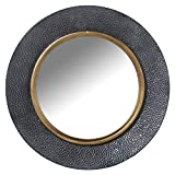 Espejo de Pared Redondo de Metal en Negro y Dorado 65x4cm, INT. 41cm
