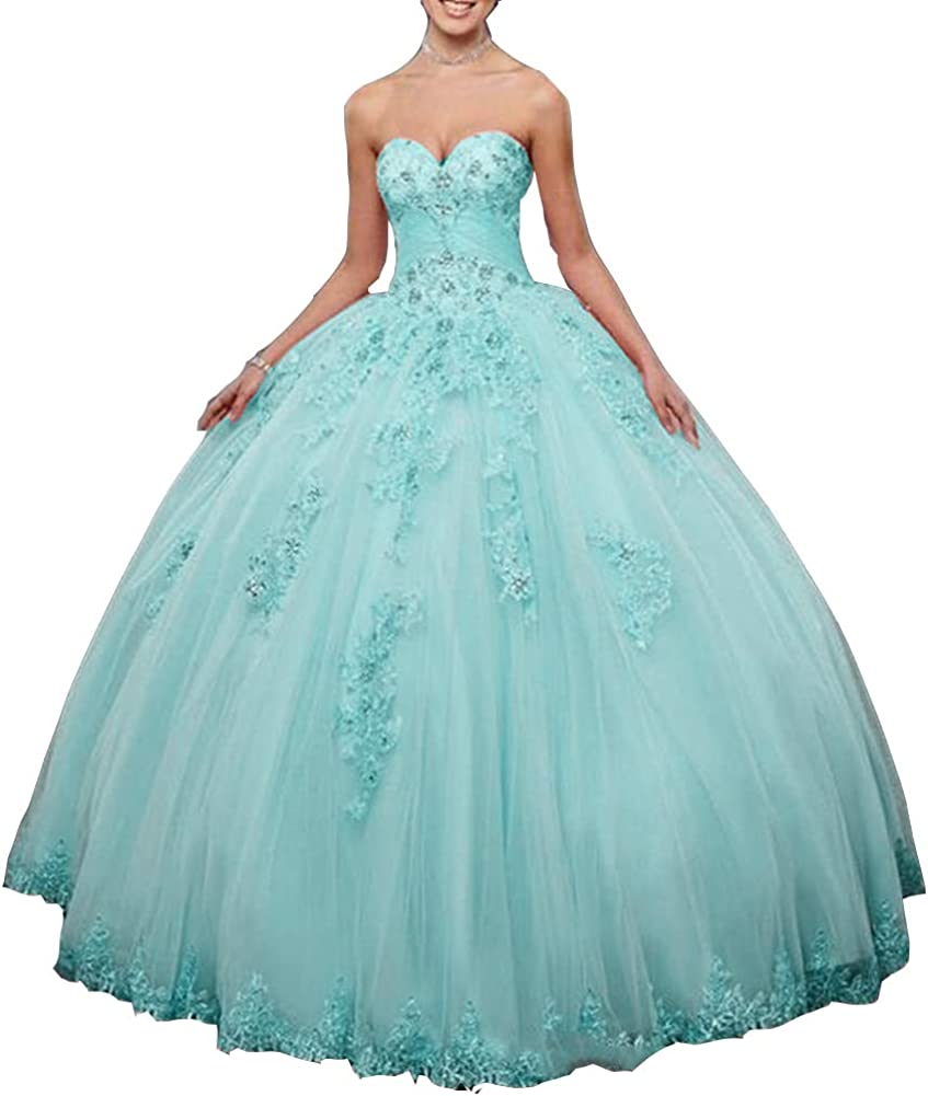 Snow Lotus Women's Sweetheart Neck Quinceanera Applique Tu Discount is also underway 100% quality warranty Dress