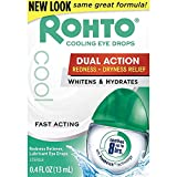 Rohto Cool Redness Relief Lubricant Eye Drops - 0.4 fl oz, Pack of 3