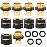 Xiny Tool Hose Quick Connector, 5 Set 10PCS 3/4 Inch Garden Hose Fitting Quick Connector Adapter Male and Female