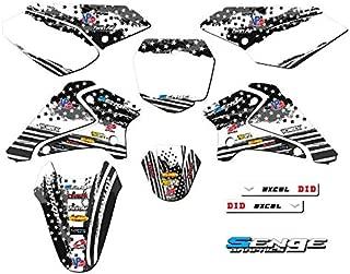 Senge Graphics kit compatible with Kawasaki 2003-2007 KLX 125, Merica MATTE BLACK, Complete Graphics Kit