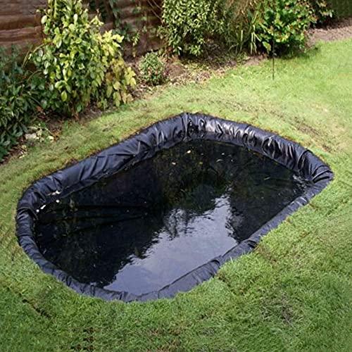 DDCHH Teichfolie Schwarz Teichfolie HDPE Gartenteichfolie,Gartenpoolmembran Teich Folie,Schwimmteich,für Gartenteich Stärke,UV-Beständig,Reißfest Umweltfreundlic,8x6M