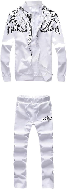 8aa05a8a SportsX Men Original Fit Print Pocket Zip Stand Collar Sport Sweat ...