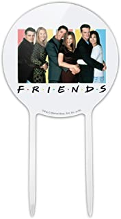 GRAPHICS & MORE Acrylic Friends It's All About Friends Cake Topper Party Decoration for Wedding Anniversary Birthday Graduation