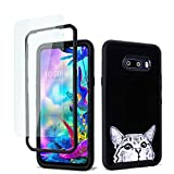GOLINK Full Body Rugged Shockproof Protective Case with HD Screen Protector for LG G8X Thinq/LG V50s Thinq-Cute Cat