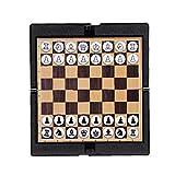 TOSSPER Mini Ajedrez De Bolsillo Plegable Monedero Ajedrez Juegos De Mesa Portátil De Viaje Magnético Set De Ajedrez