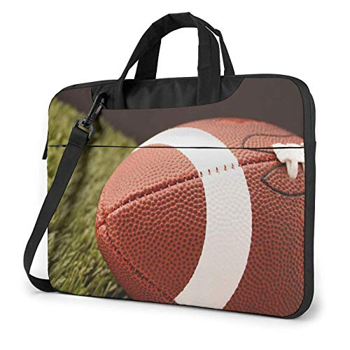 Football Rugby Court Laptop Shoulder Bag Sleeve Case, Shockproof Laptop Briefcase Computer Bag