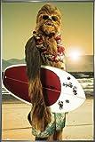 Star Wars Poster Chewbacca Surfin' (93x62 cm) gerahmt in: