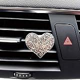 BOLIXIN decorazioneAccessori per Auto Diffusore di aromi per Auto Mini Aroma a Forma di Cuore per deodoranti per Auto Profumo Auto Clip di sfiato per Auto, Argento