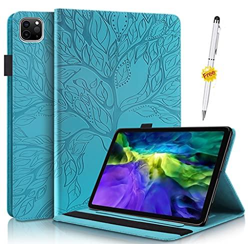 KSHOP Kompatibel mitP Hülle für Tablet Amazon Fire HD 10 Tablet (9. & 7. Generation - 2019 & 2017) Schutzhülle Handyhülle Tasche Super dünner Leichter Magnetständer Blau