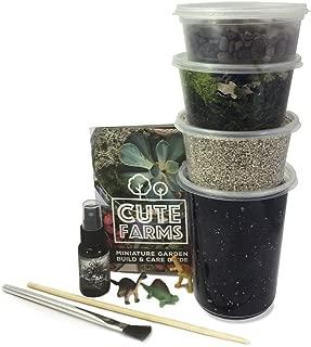 Cute Farms Terrarium Starter Kit | Moss, Vermiculite, Soil, Pebbles, Plant Food, Finishing Tools (Large Kit)
