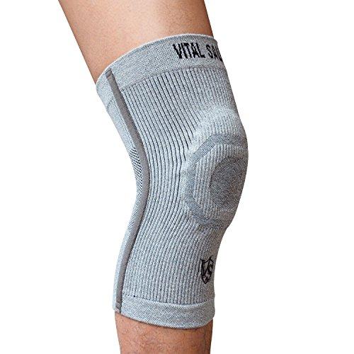 Vital Salveo - Genouillère de compression S Pro - Soulagement de la douleur - Protège les articulations - Idéal pour le sport et le quotidien - Taille XL