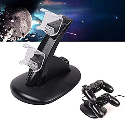 DORLIONA Playstation PS4 Dual Controller LED Charger Dock Station USB Charging Stand HoZ