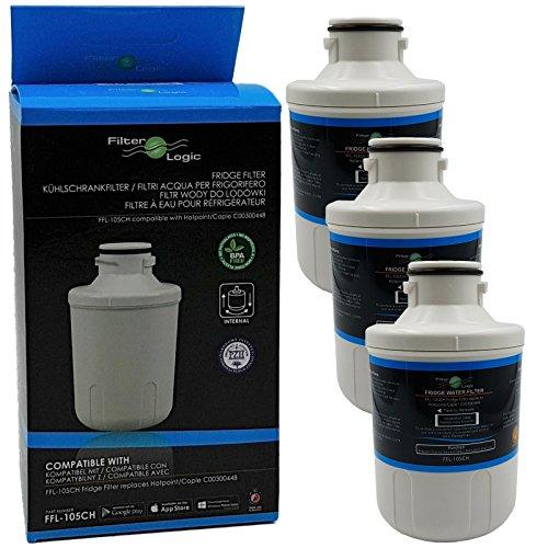 3x FilterLogic FFL-105CH interner Wasserfilter ersetzt Microfilter MFCMG14211FR / MFCMG14211F für Hanseatic Kühlschrank Nr. 667000 , 571671 - 640897 und Comfee SBSIB 502 NFA+