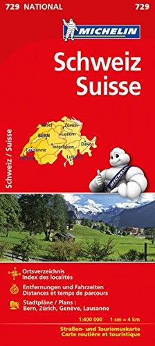 Michelin Schweiz: Straßen- und Tourismuskarte (MICHELIN Nationalkarten)