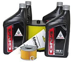 4 Quarts Honda GN4 10W30 Oil Genuine Honda Oil Filter Genuine Honda Air Filter Crush Washer Convenient Funnel
