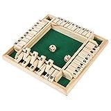 ZoneYan Shut The Box 4 Giocatori, Wooden Board Game, Gioco da Tavolo in Legno con Dadi, Gi...