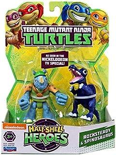 Teenage Mutant Ninja Turtles Half Shell Heroes Rocksteady and Spinosaurus